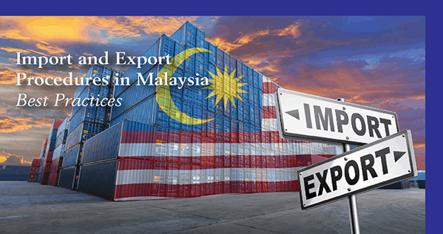 Import export container overlaid with Malaysian flag
